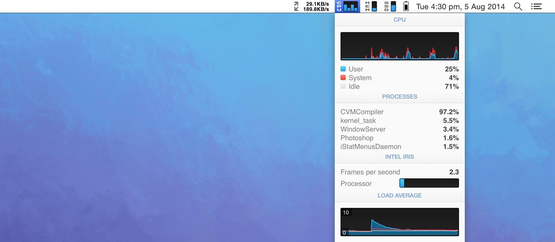 iStat Menus 6.4 优秀的系统监控工具