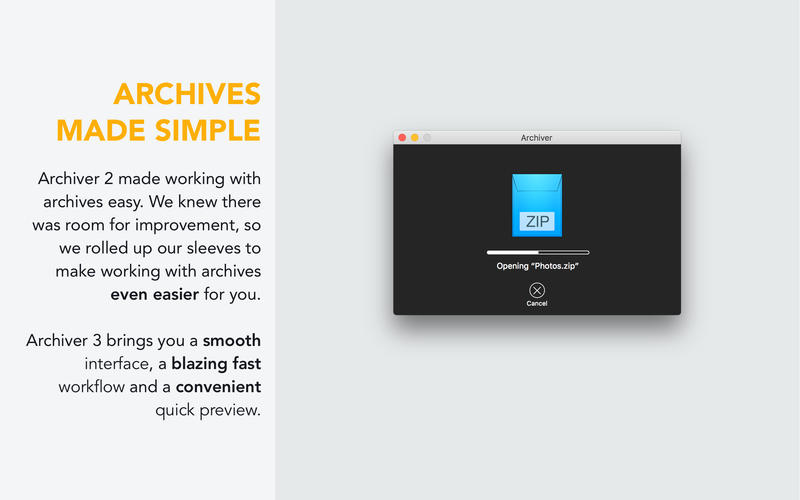 Archiver 3.0.7 一款功能齐全的压缩解压工具