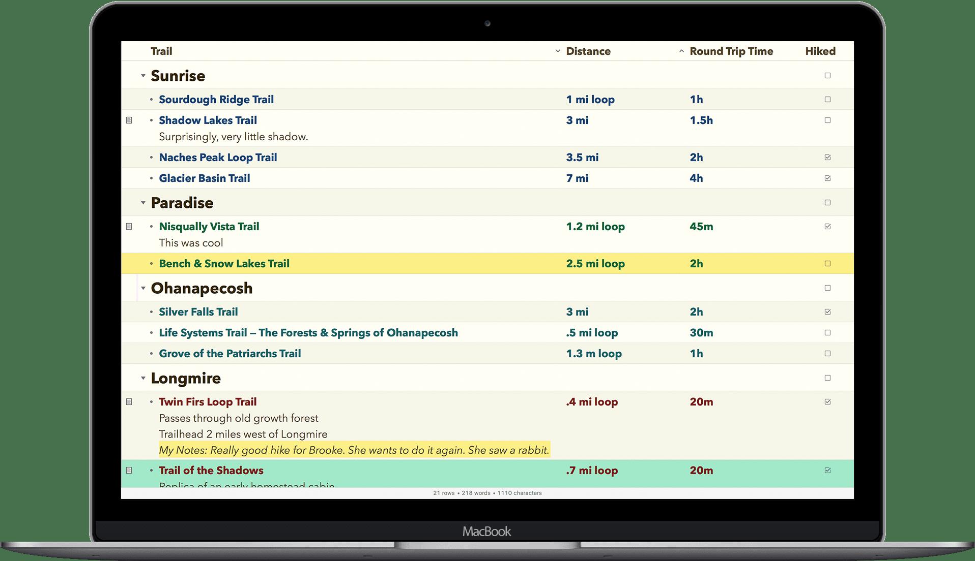 OmniOutliner Pro 5.6.1 日常工作想法记录