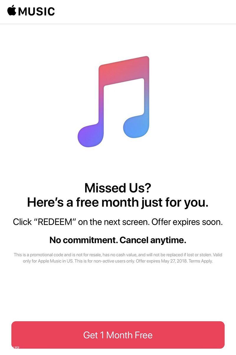 试听 3 个月后没订阅?Apple Music 再送你一个月免费试听