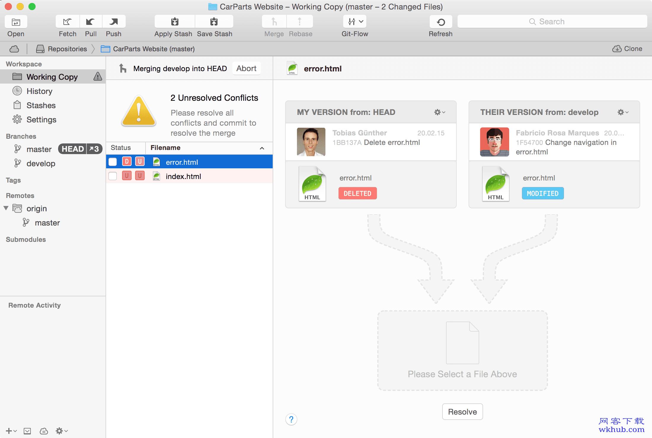 Tower 3.4.2 Mac平台最强大的Git 客户端