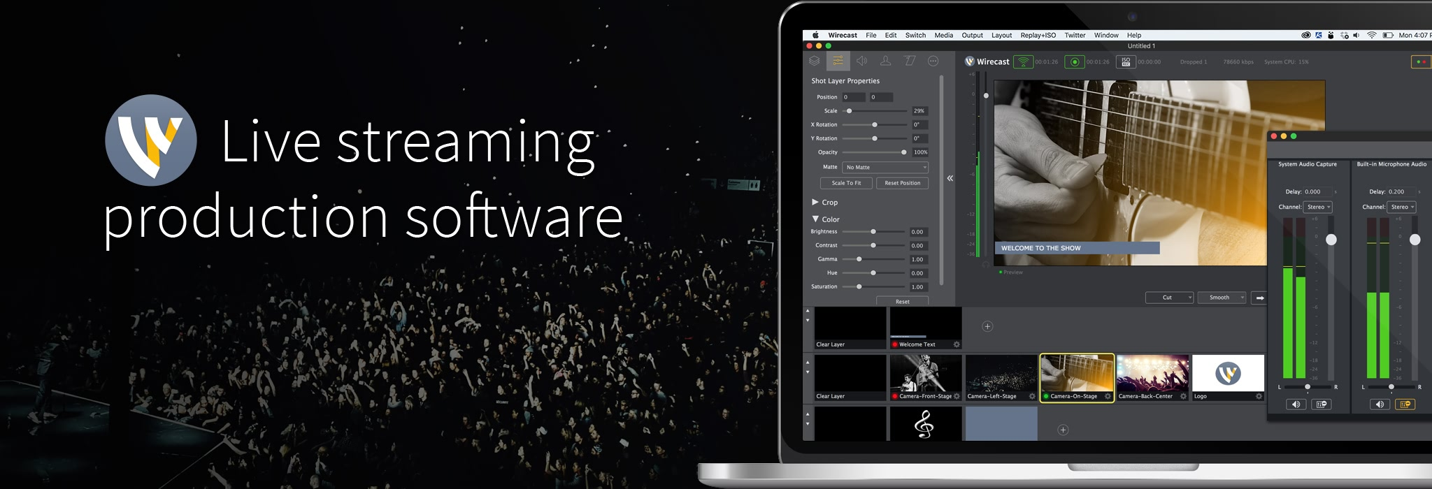 Wirecast Pro 9.0.1 专业摄像直播视频工具
