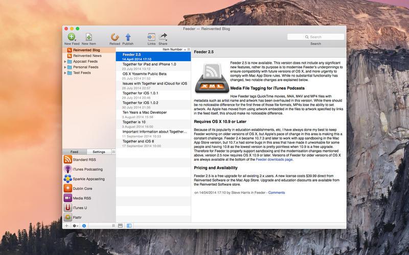 Feeder 3.6.2 RSS创建、编辑及发布工具