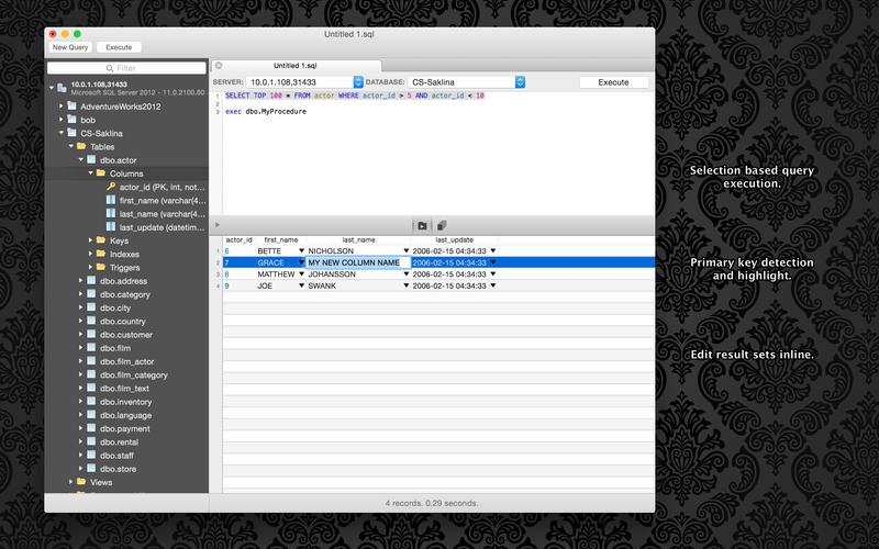 SQLPro for MSSQL 1.0.204 轻量级的MSSQL数据库客户端