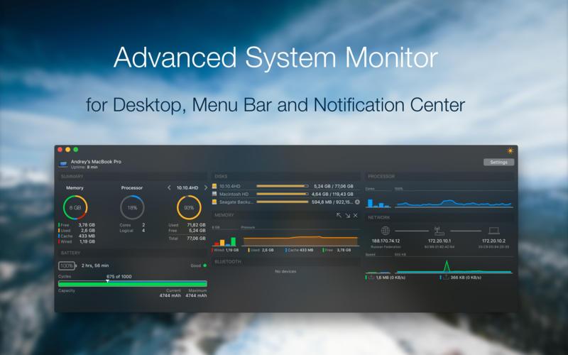 iStatistica 4.2.2 一款高颜值的系统监控工具