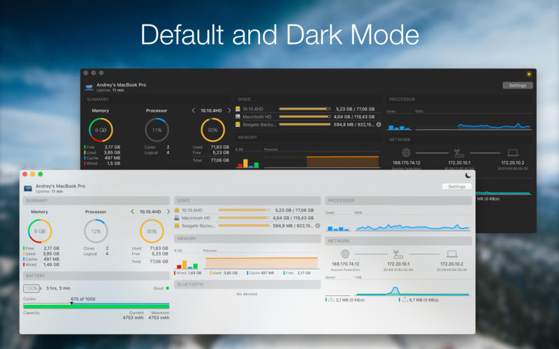 iStatistica 4.2.1 一款高颜值的系统监控工具