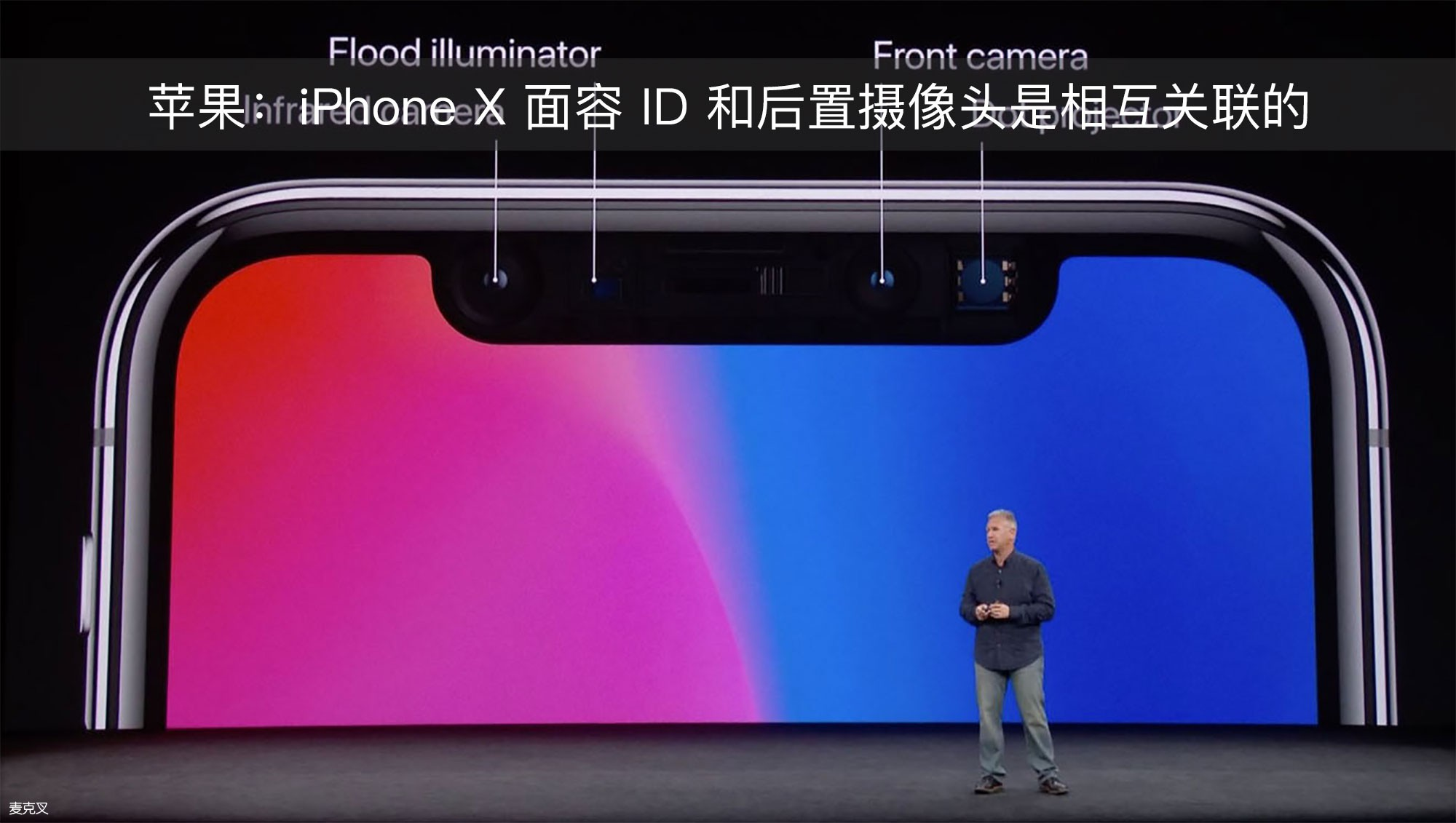 苹果:iPhone X 面容 ID 和后置摄像头是相互关联的