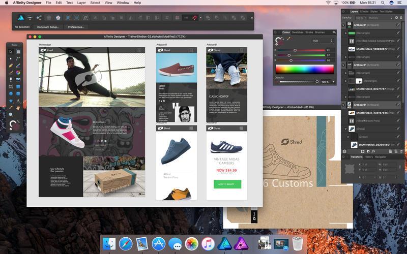 Affinity Designer 1.7.3 优秀的矢量图形设计工具