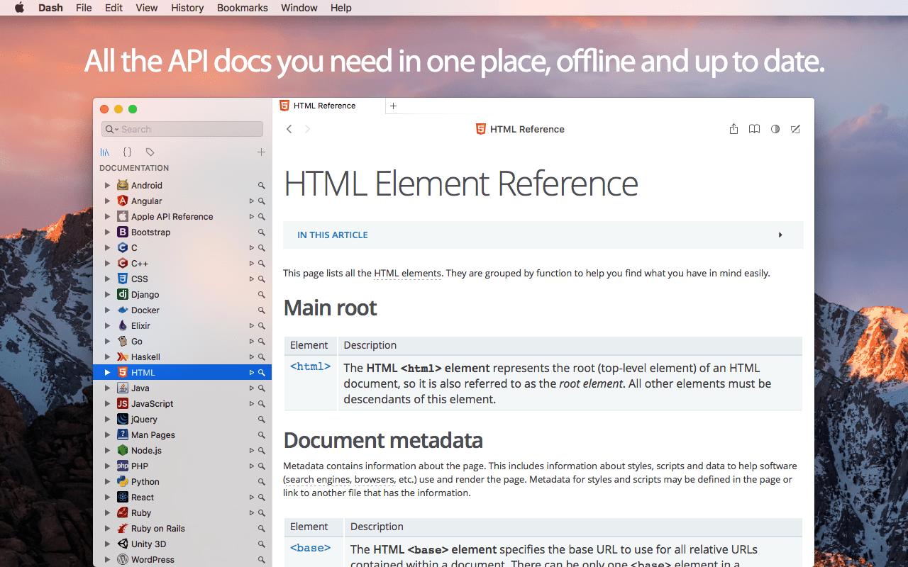 Dash 4.2.0 开发者必备 API文档聚合