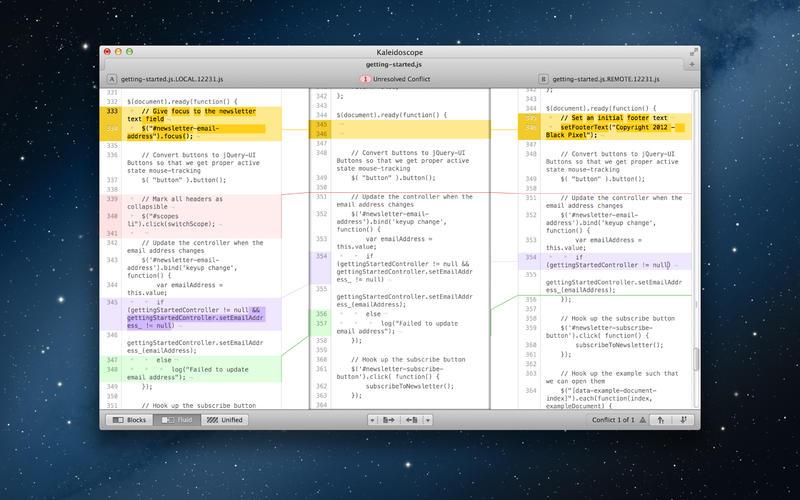 Kaleidoscope 2.2.2 功能强大的对比工具