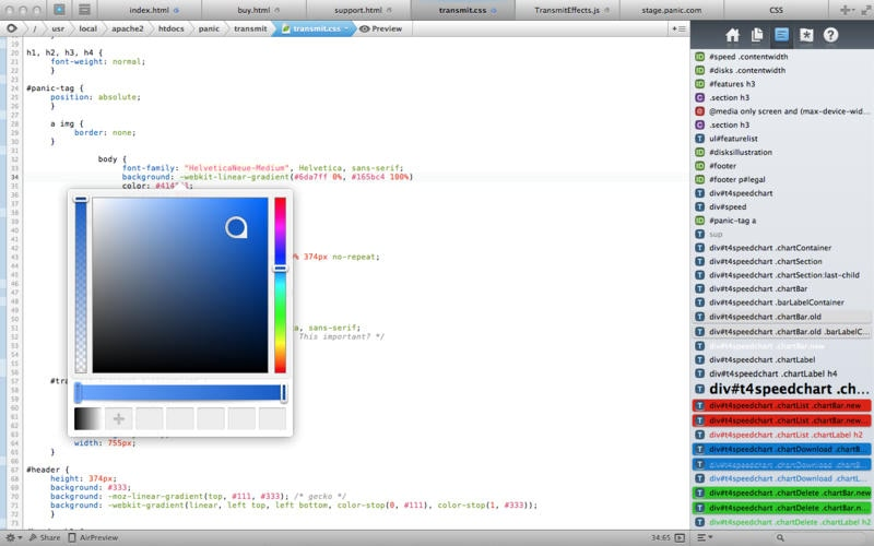 Coda 2.6.10 强大的Web编辑器