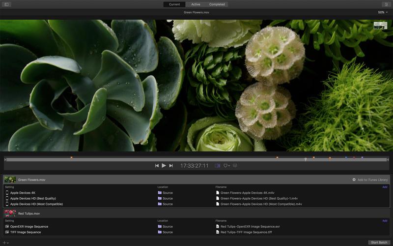 Apple Compressor 4.4.6 苹果官方出品视频解码格式转换工具