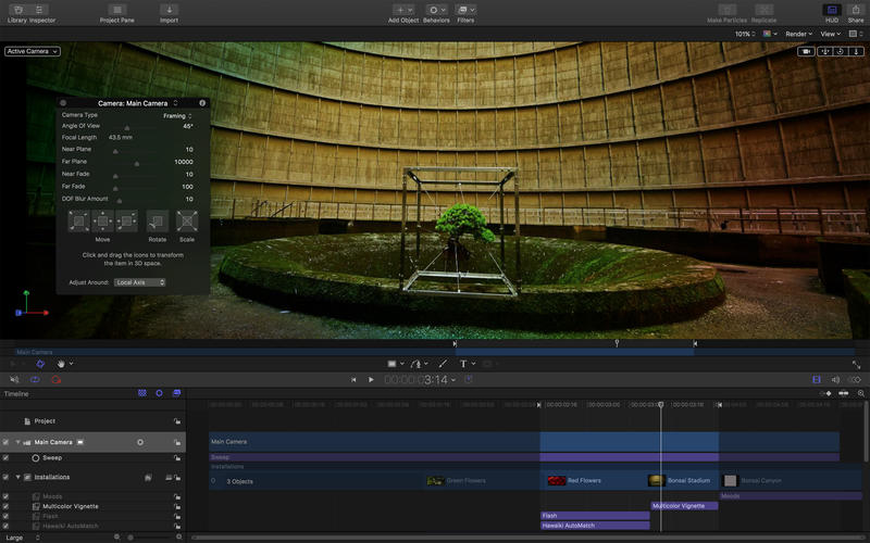 Motion 5.4.1 视频后期特效制作