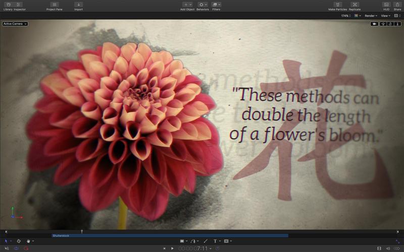 Apple Motion 5.4.2 视频后期特效制作