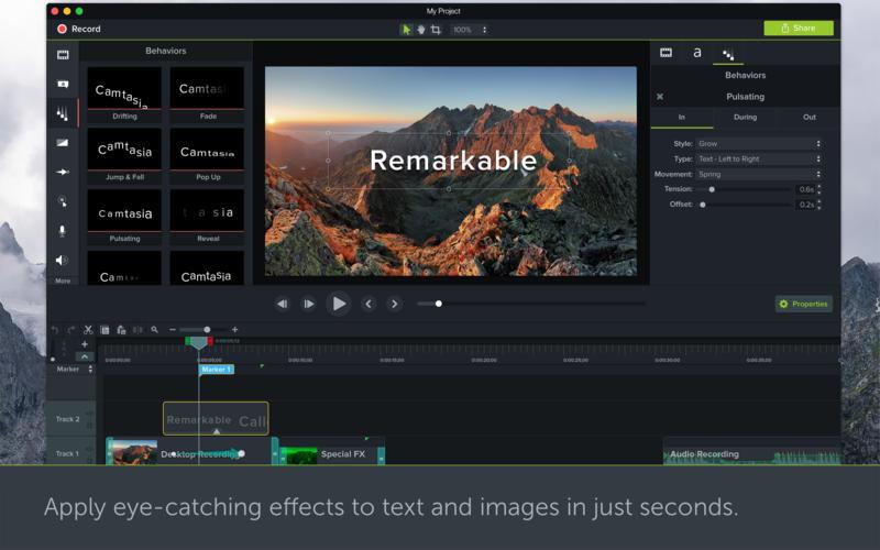 Camtasia 2018.0.6 强大且易用的视频录制和剪辑软件