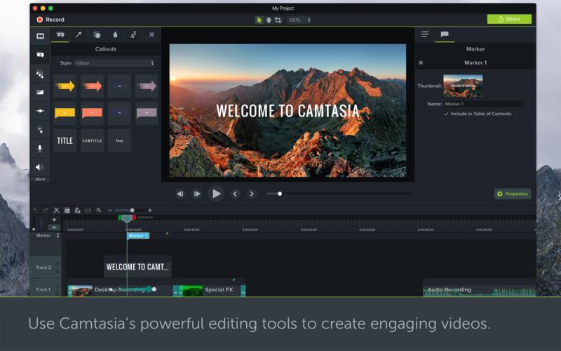 Camtasia 3.1.5 强大且易用的视频录制和剪辑软件