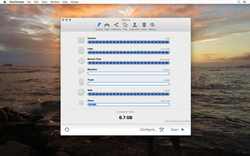 MacCleanse 8.0.7 优秀的系统垃圾清理工具