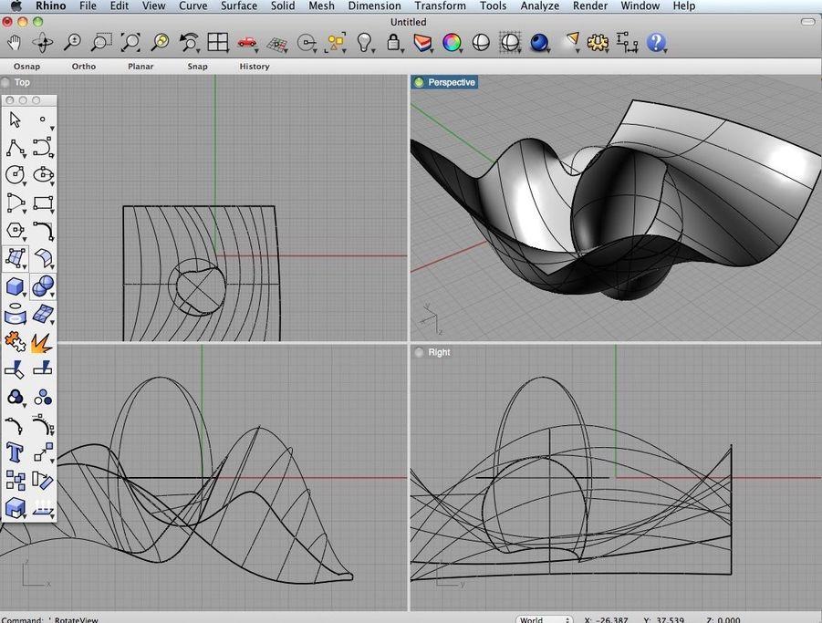 Rhinoceros 5.4.1 强大的3D造型软件