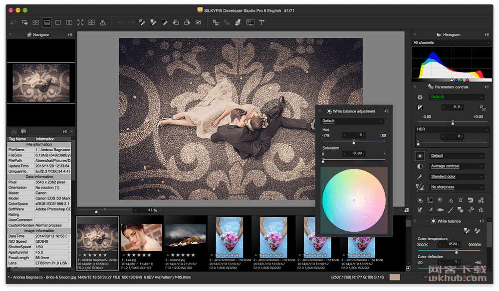 SILKYPIX Developer Studio 8E 8.1.21 方便直观的RAW照片处理器