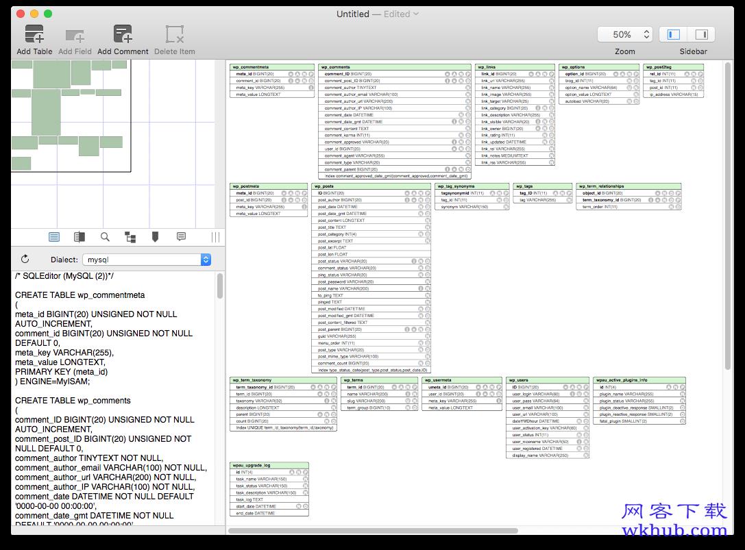 SQLEditor 3.3.7 友好强大的数据库设计和编辑器