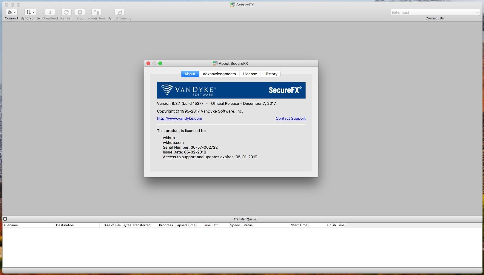 SecureFX 8.5.2 易于使用的多协议传输工具
