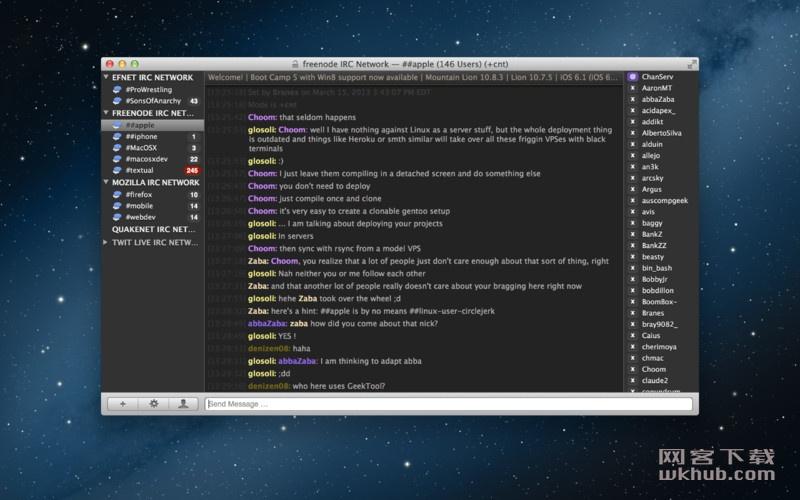 Textual 7.1.1 优秀的IRC聊天客户端