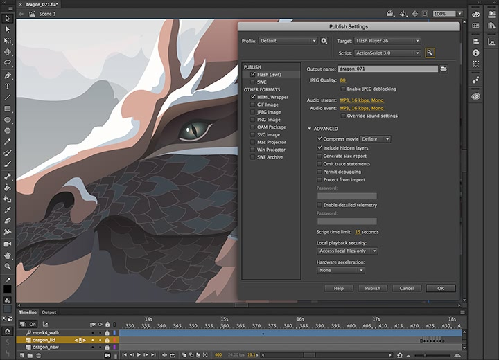 Adobe Animate CC 2019 19.2.1 Adobe全新动画制作工具