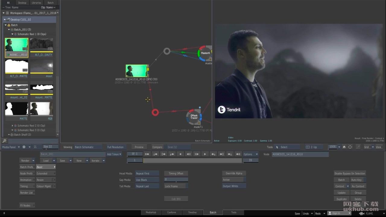 Autodesk Flame 2019 高端电影剪辑和特效制作系统