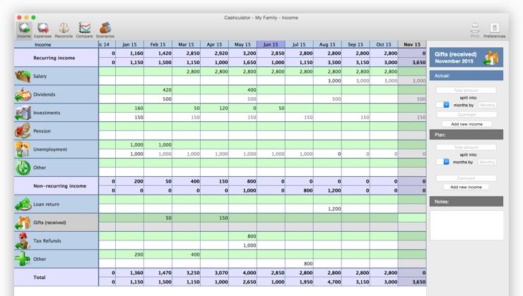 Cashculator 1.4 一款不一样的个人理财应用