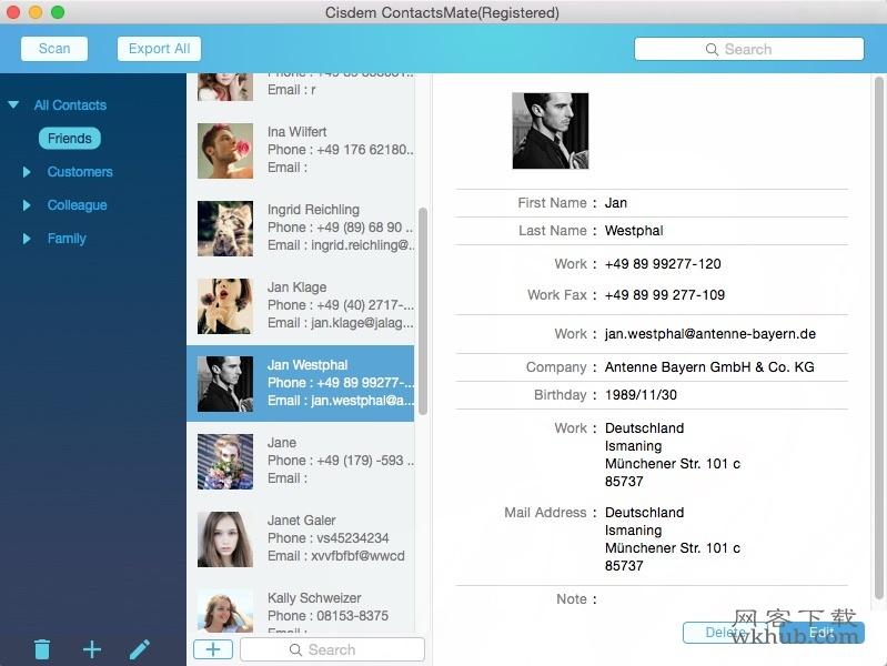 Cisdem ContactsMate 4.2.1 优秀的联系人管理器