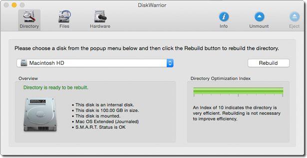 DiskWarrior 5.2 硬盘修复工具