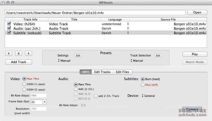 MP4tools 3.7.2 强大的MP4视频编辑工具