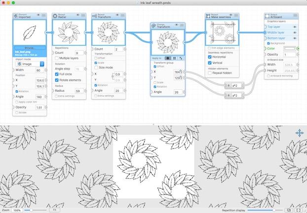 Patternodes 2.1.7 创建基于重复的图形模式动画或插图