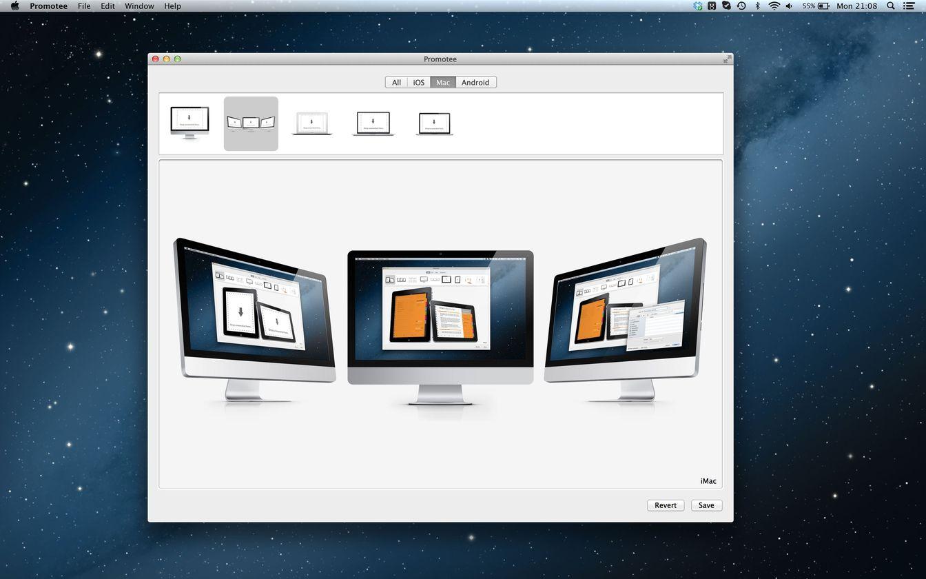 Promotee 1.3.0 生成不同形式的App展示图