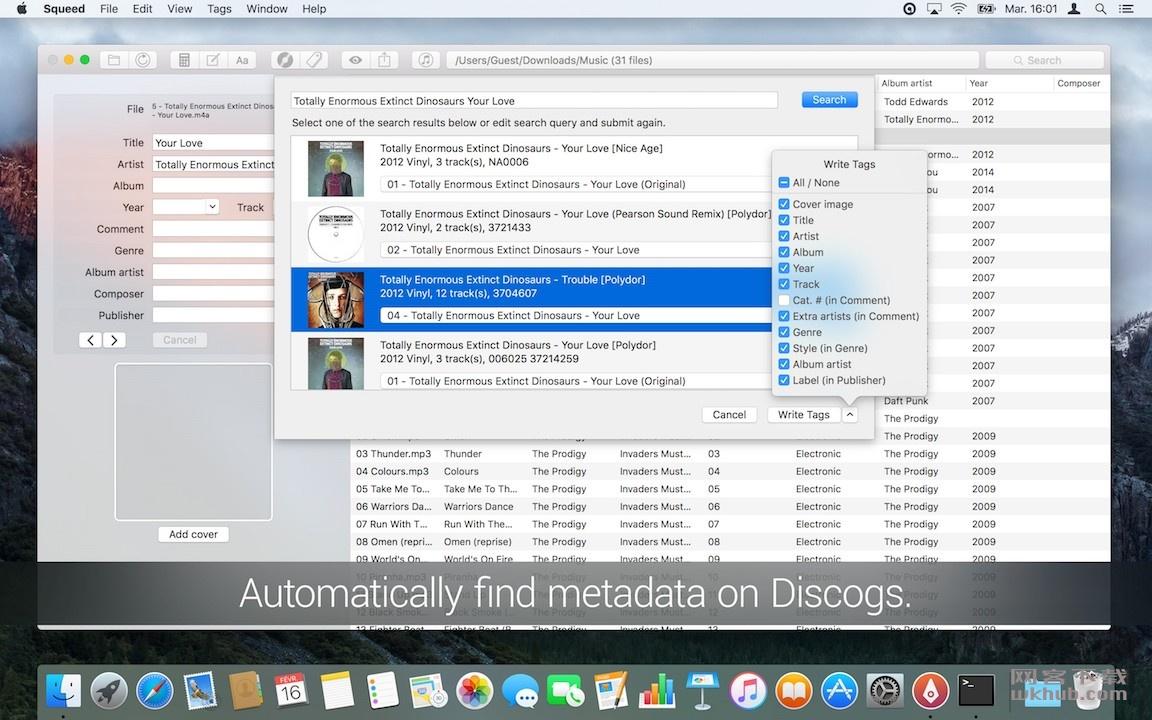 Squeed 1.13.2 高效的音频元数据编辑器