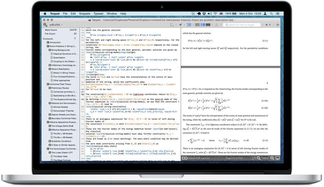 Texpad 1.8.14 专业的LaTeX的编辑器