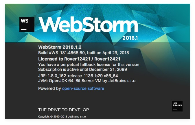 JetBrains WebStorm 2018.1.2 Web前端开发神器