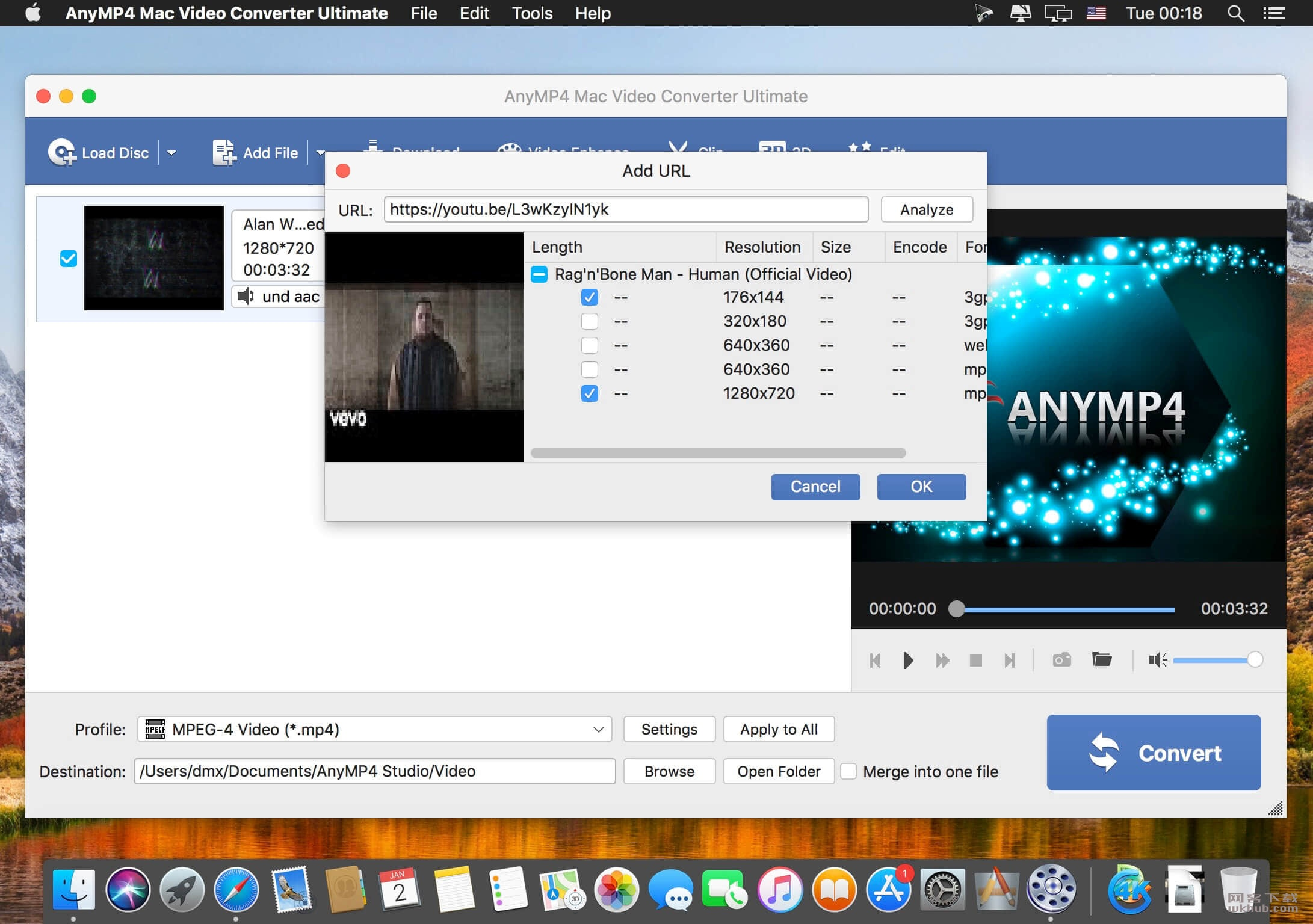 AnyMP4 Mac Video Converter Ultimate 8.2.18 强大的视频转换编辑工具