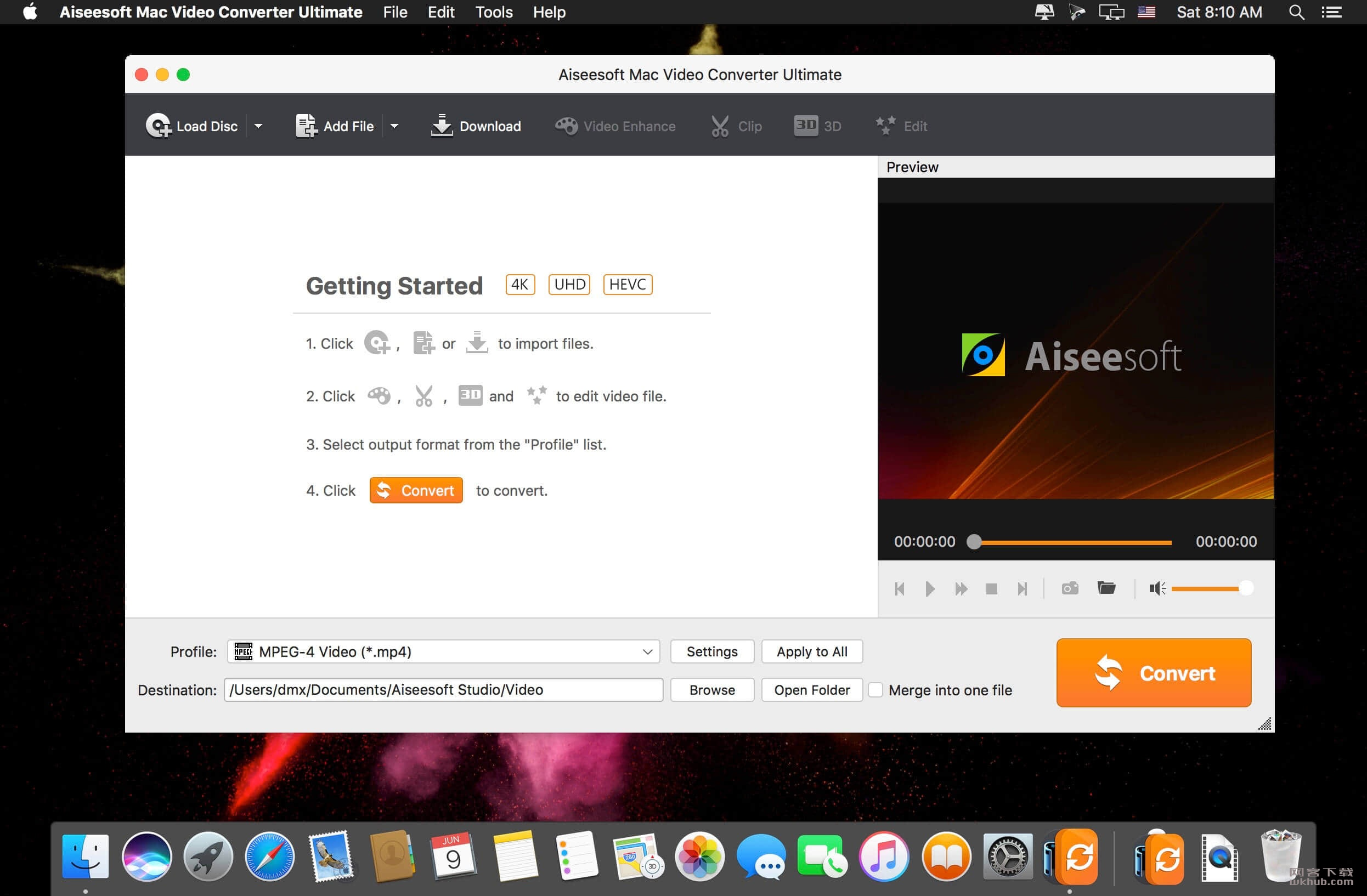 Aiseesoft Mac Video Converter Ultimate 9.2.50.90530 优秀的多功能视频转换器