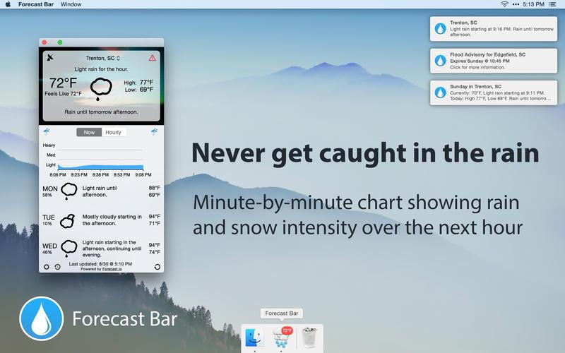 Forecast Bar 5.0.1 实用的菜单栏天气预报
