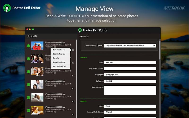 Photos Exif Editor 2.8 强大的照片Exif信息编辑器