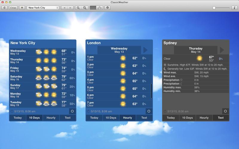 ClassicWeather Premium 4.0.1 经典的菜单栏天气应用