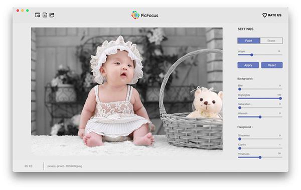PicFocus 2.3 简单易用的聚焦模糊效果制作应用