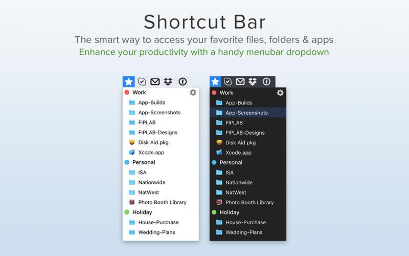 Shortcut Bar 1.8.15 优秀的菜单栏快速访问工具