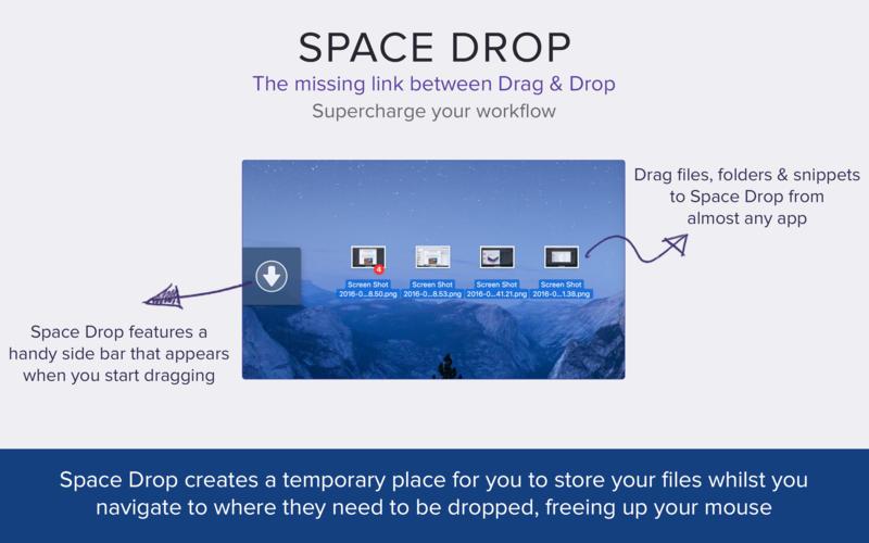 Space Drop 1.7.9 优秀的增强拖放工具