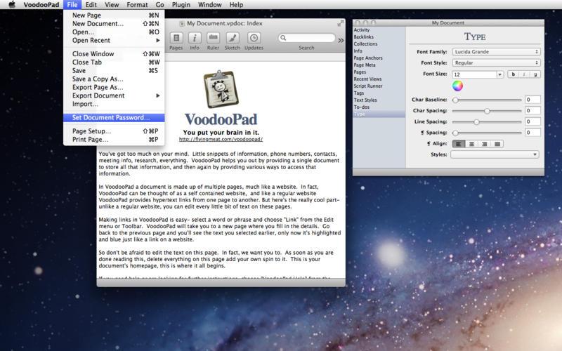 VoodooPad 5.2.3 简单易用的记事本工具