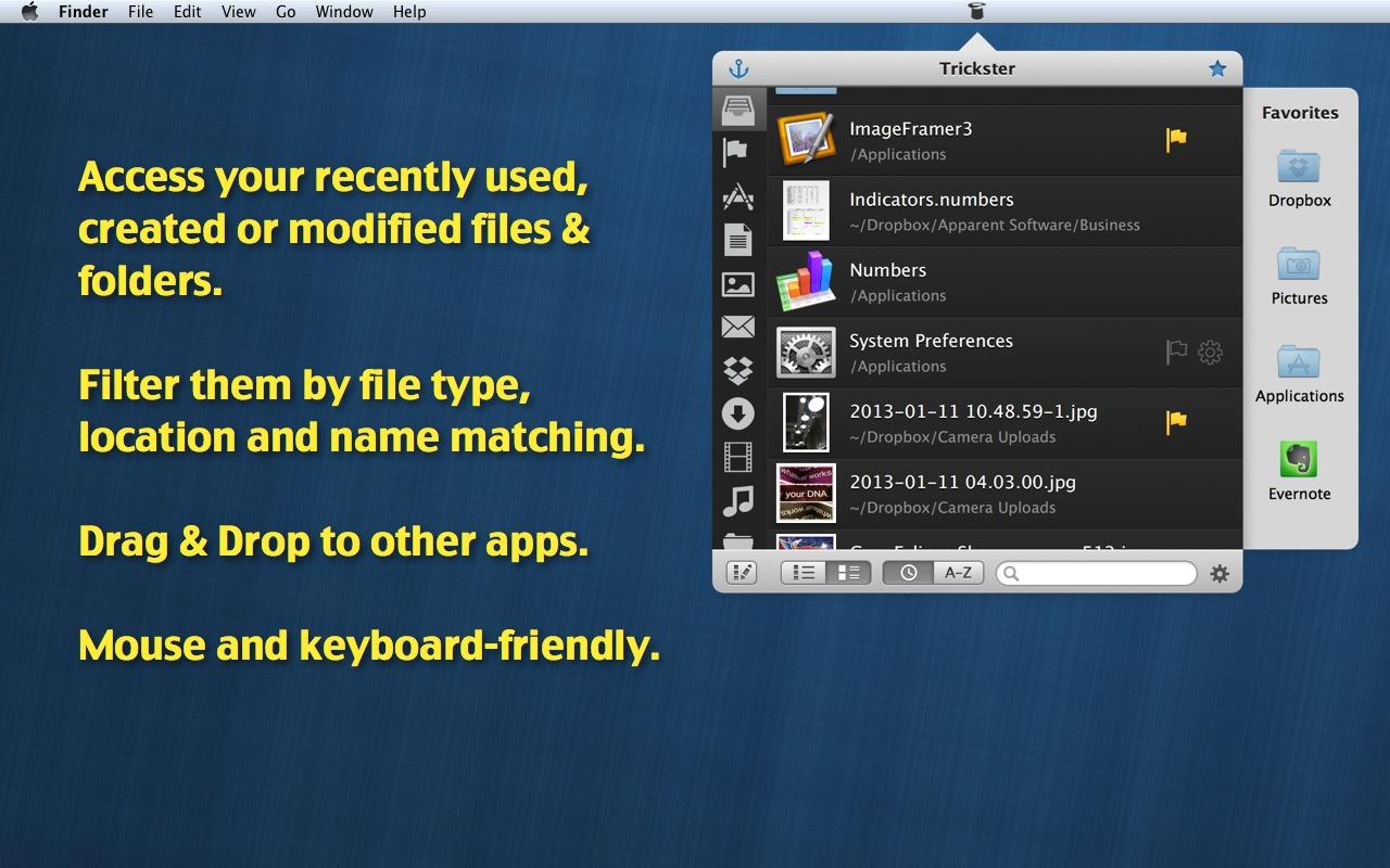 Trickster 2.8 快速查找最近使用的文件