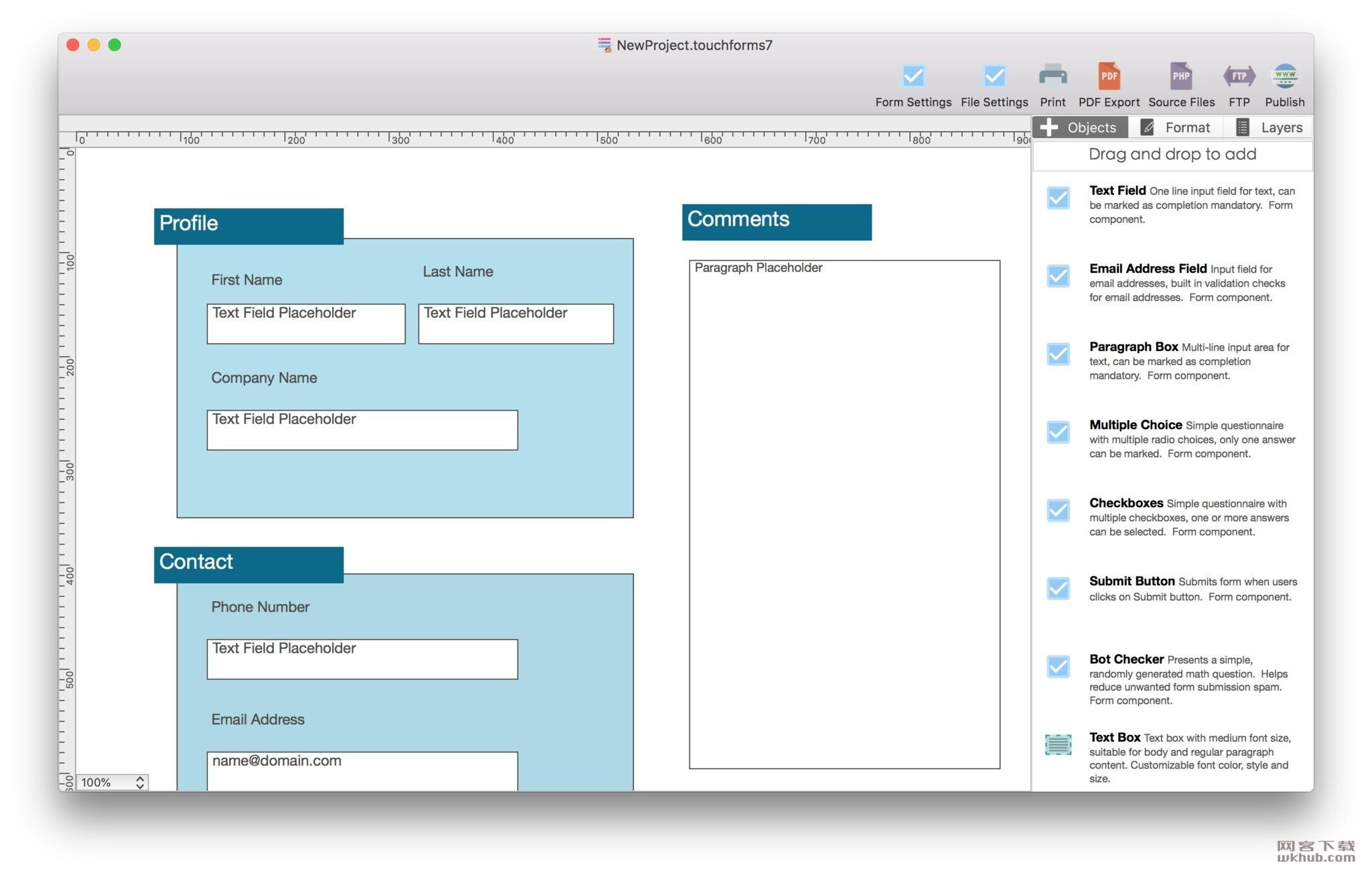 Touch Forms Pro 7.27 易用的网页表单生成器