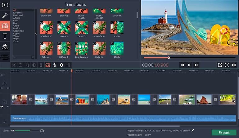 Movavi Slideshow Maker 5.3.0 专业的幻灯片制作工具