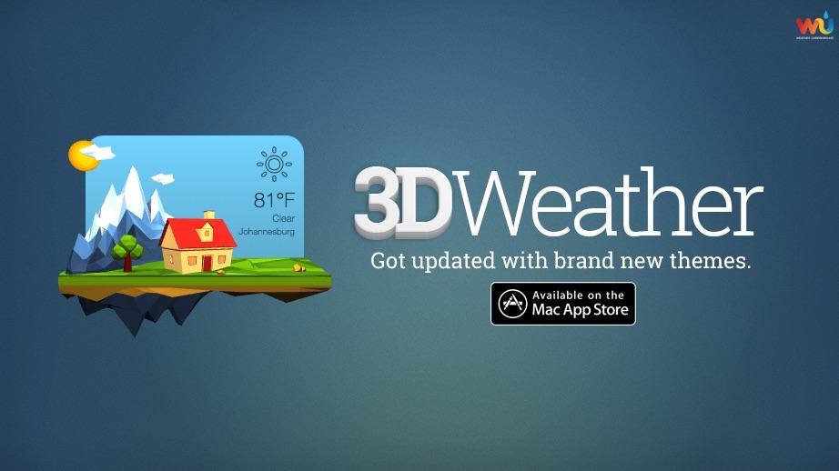 3DWeather 3.4 一款不一样的天气预报应用